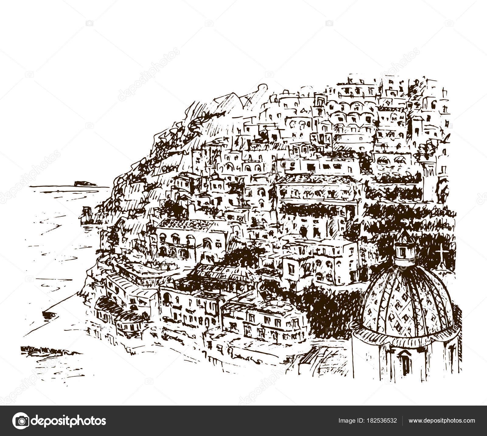 Dibujos Arquitectonicos A Lapiz Faciles Positano Costa De Amalfi