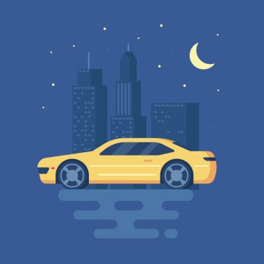 Isolated modern vector illustration of sports car.