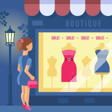 Vector illustration of boutique.