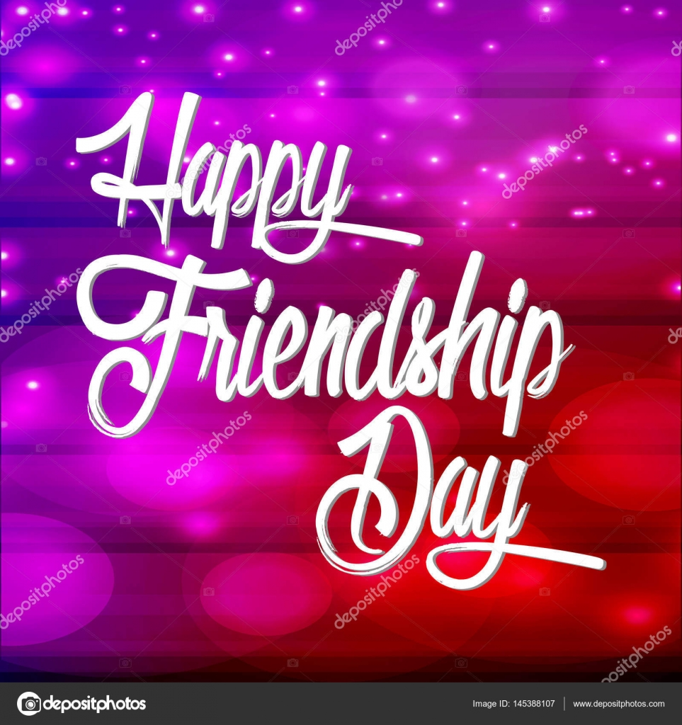 Creative vector abstract for Happy Friendship Day with nice and beautiful design illustration.