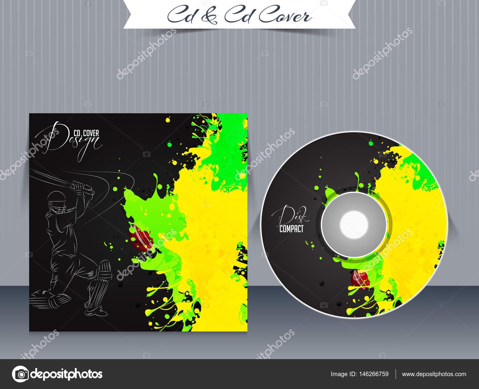 Plantillas de diseño de la caja de CD o Dvd — Archivo Imágenes ...