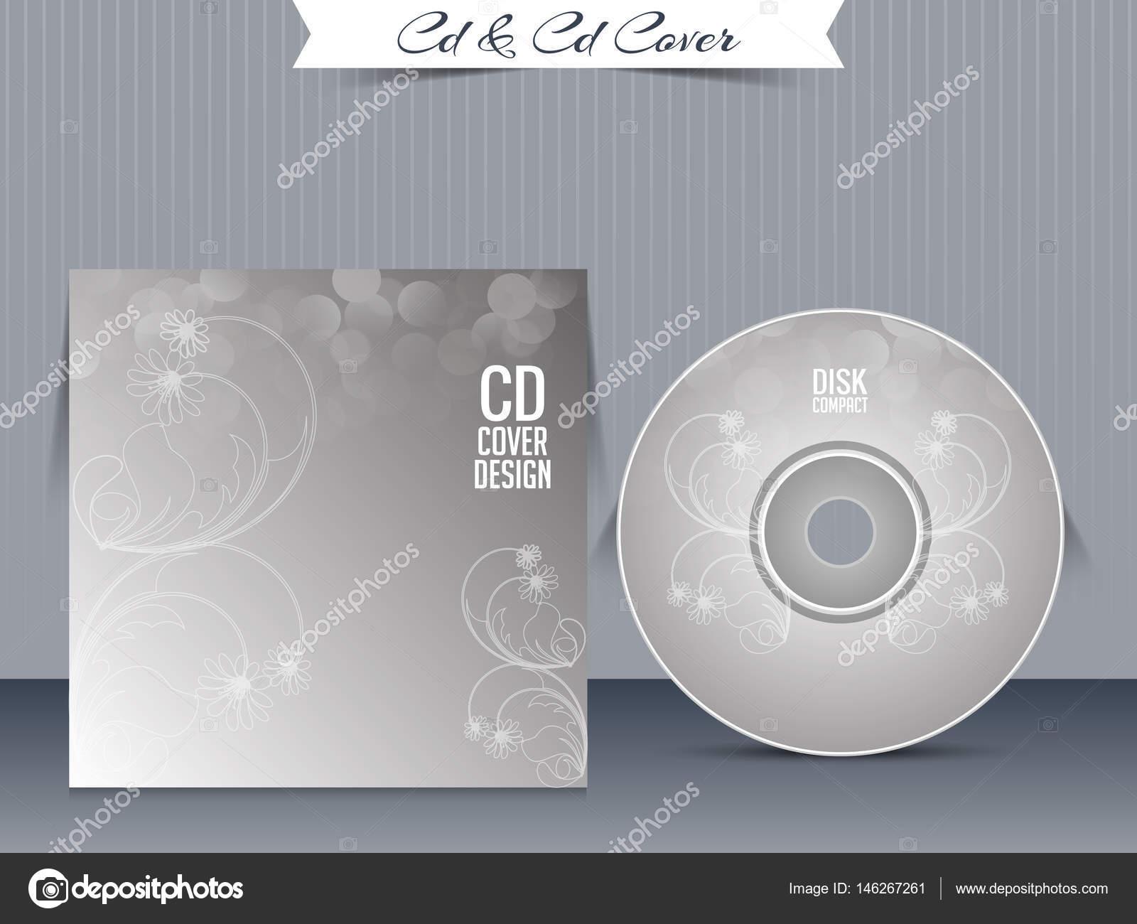 Plantillas de diseño de la caja de CD o Dvd — Vector de stock ...