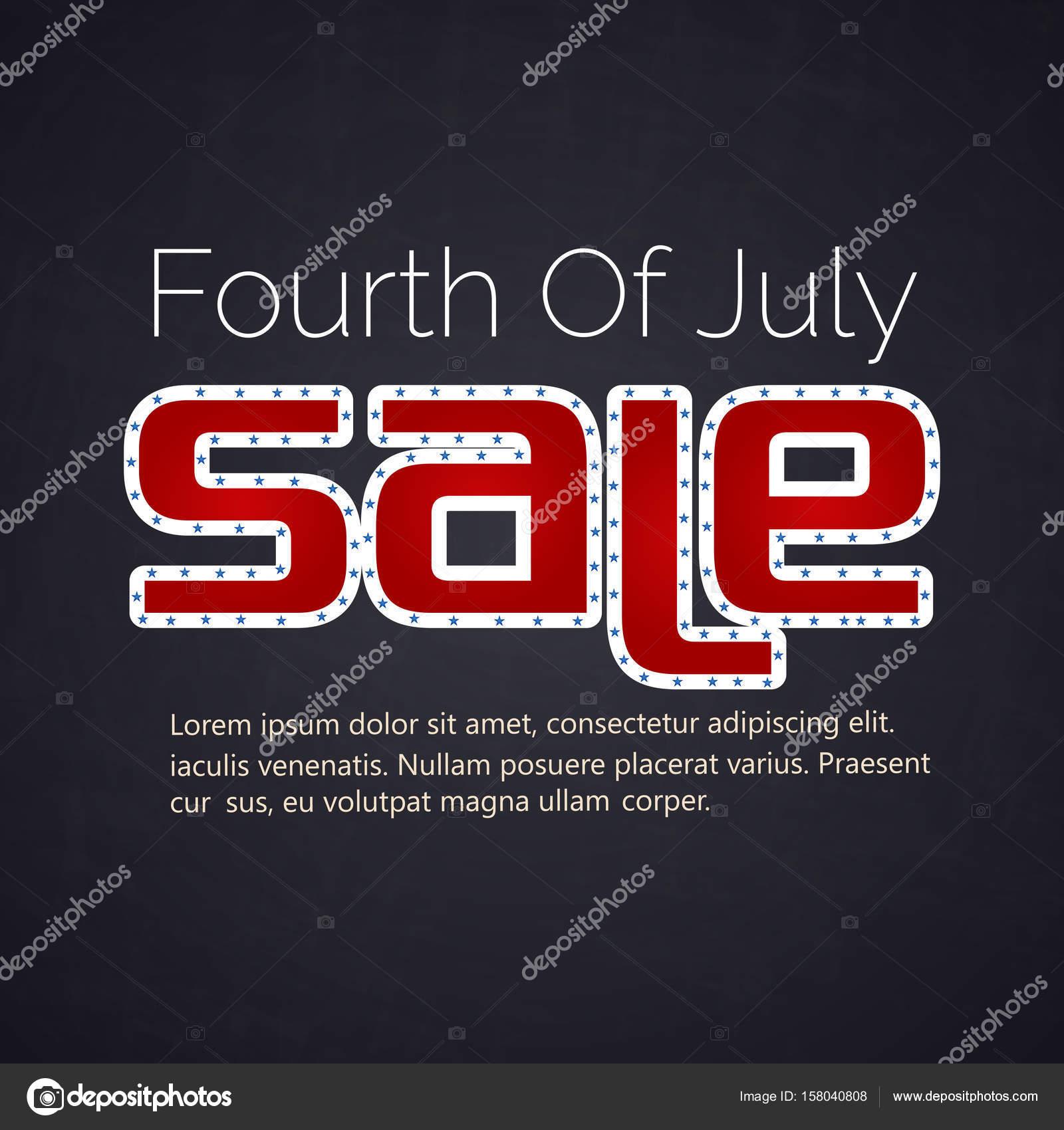 4 de julio venta Resumen — Vector de stock © awdsin.gmail.com #158040808