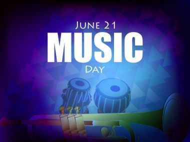 World Music Day Abstract