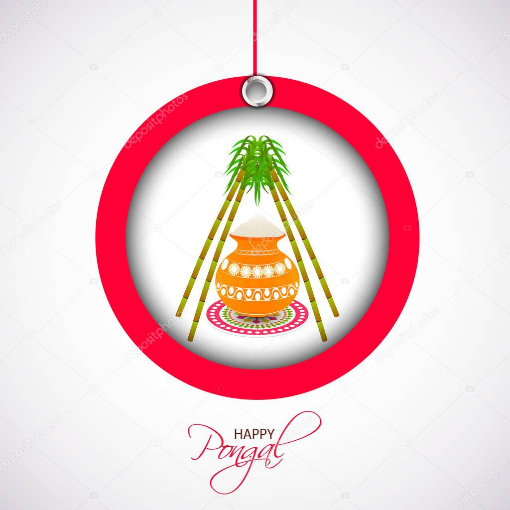 Happy Pongal Abstract
