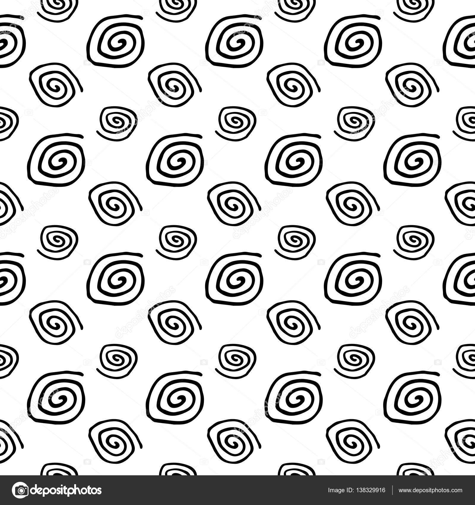 patrón sin costuras en espiral abstracto — Vector de stock © design ...