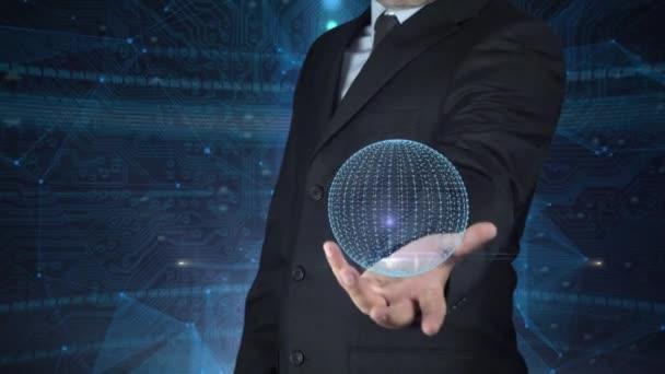 Business Man Globalisierung und Innovation-Konzept