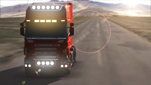 truck on highway moving