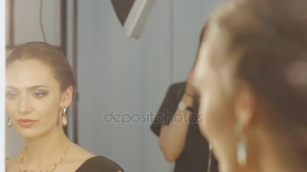 Makeup artist backstage