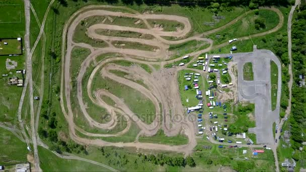 motocross track Aerial view