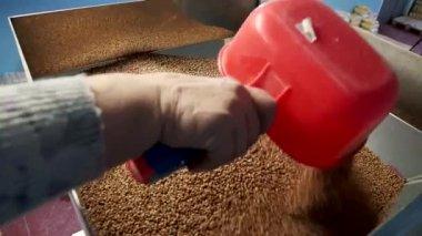 buckwheat filling in the tank