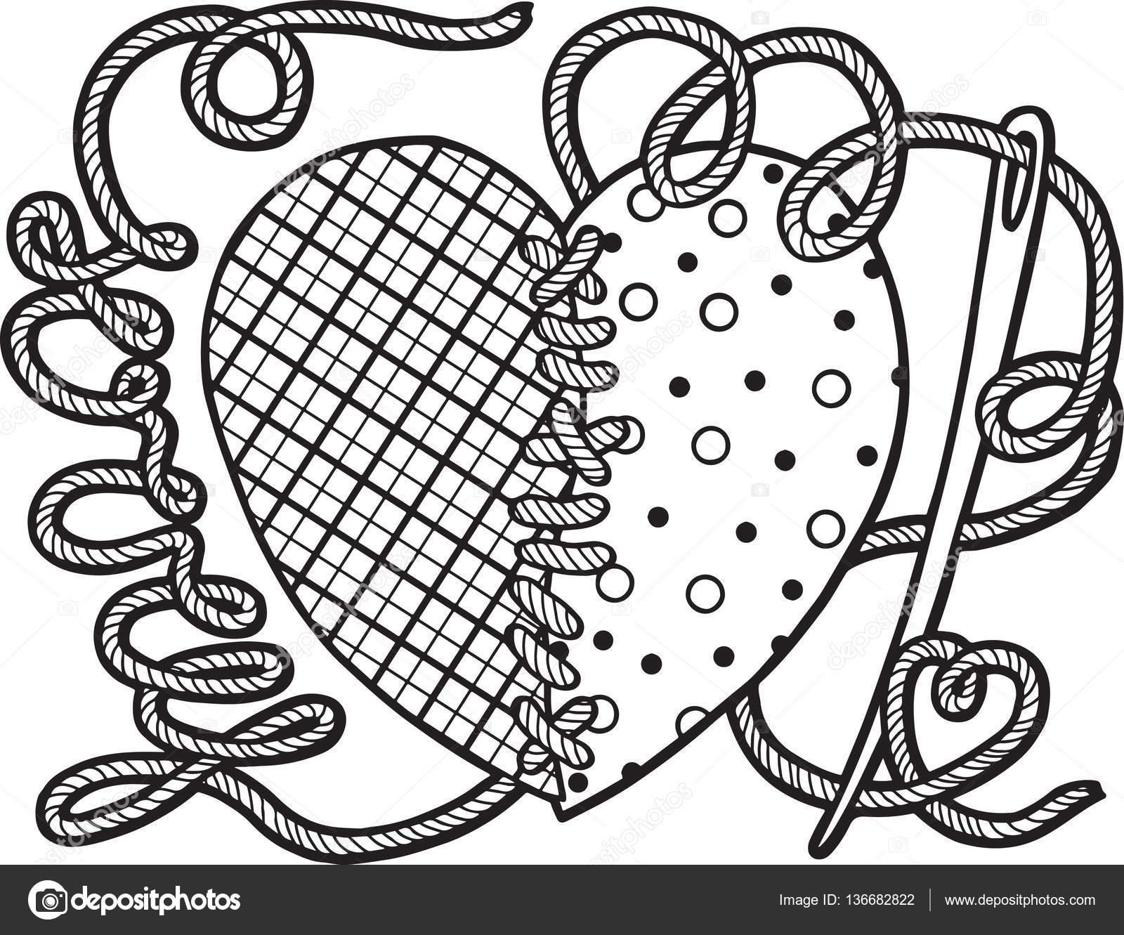 Para colorear pag para adulto. Conjunto de corazones rotos para el ...