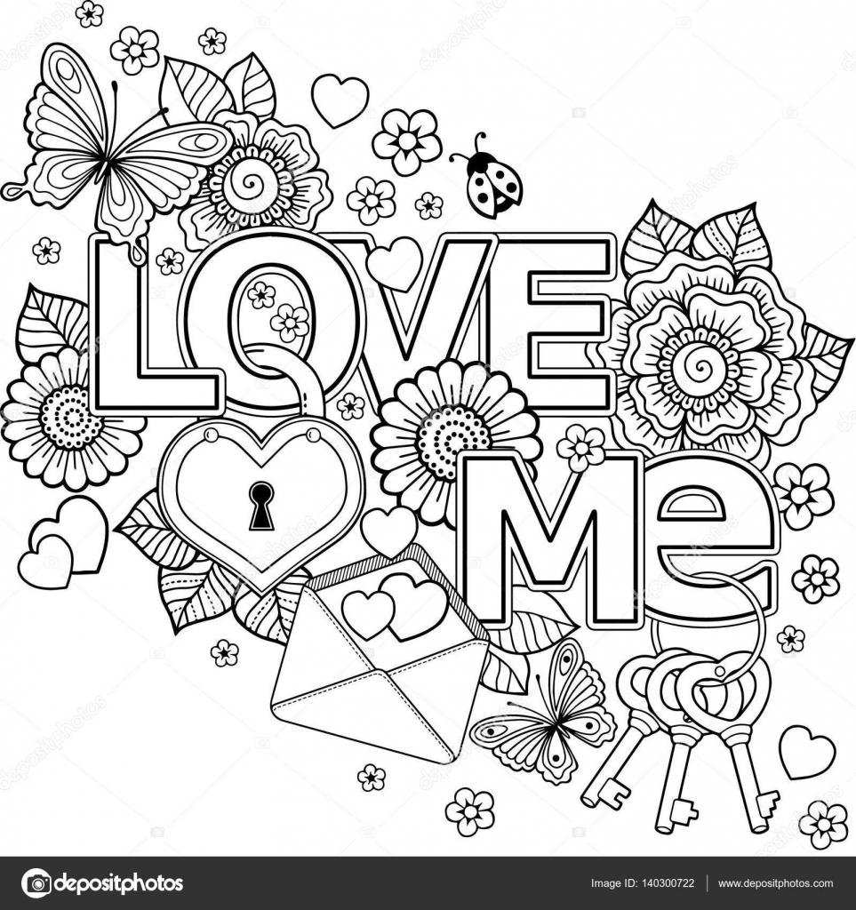 Ich liebe dich. Zusammenfassung Hintergrund Blumen, Schlüssel und ...