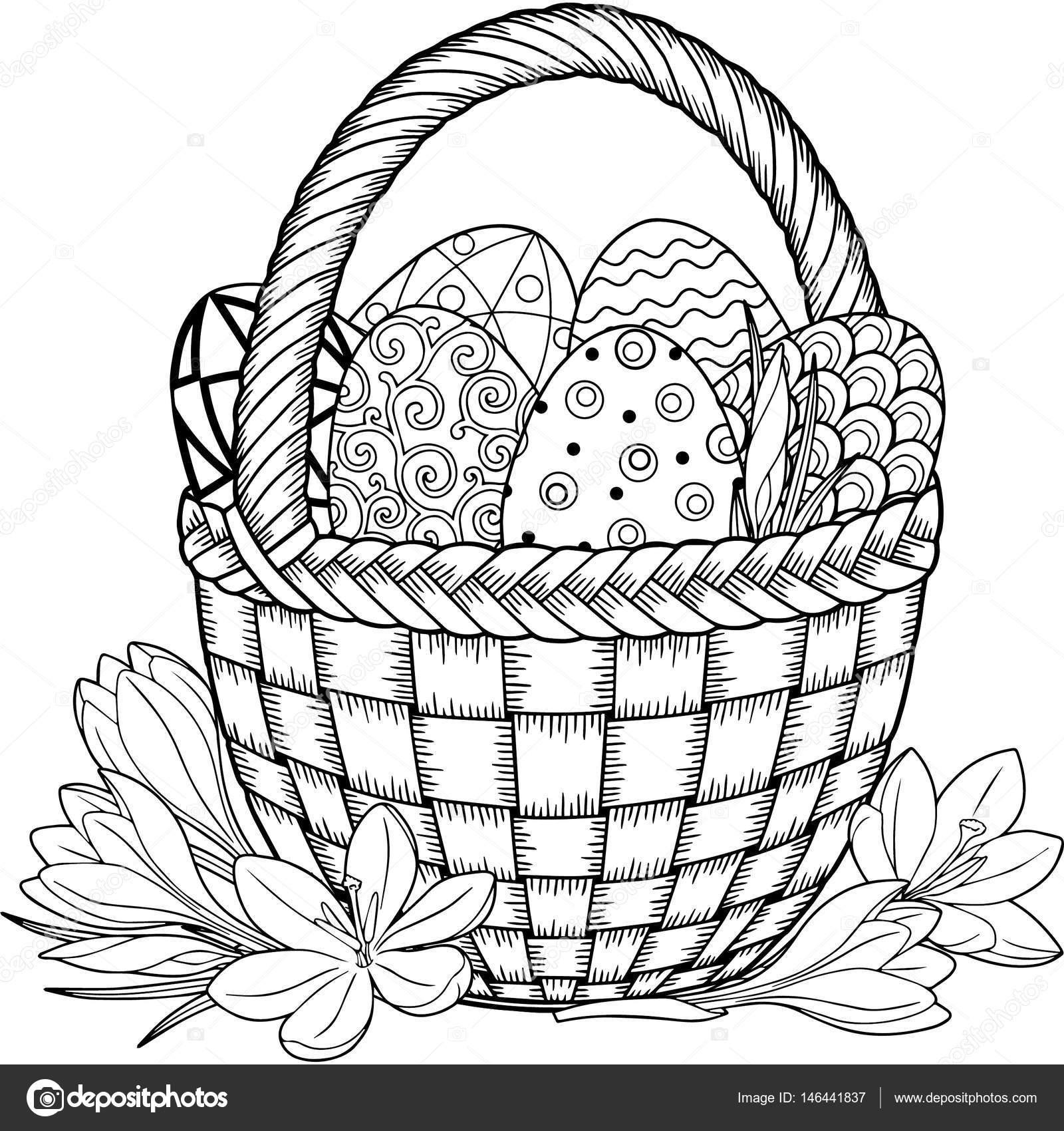 Feliz Pascua de resurrección. Negro y blanco Doodle huevos de Pascua ...