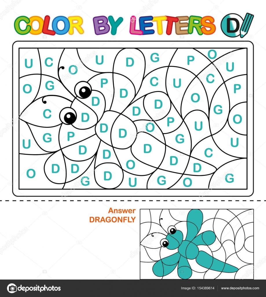 Libro de colorear para niños de ABC. Color de letras. El aprendizaje ...