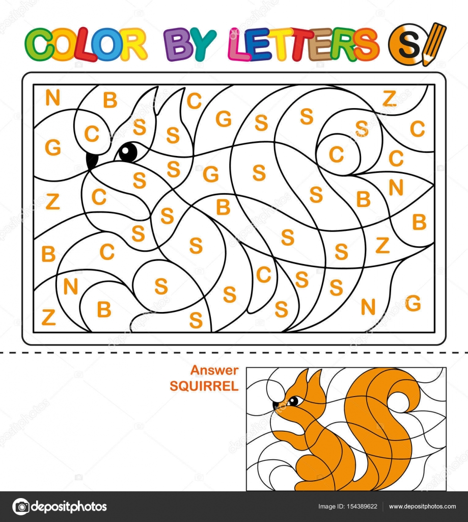 ABC Coloring Book For Children Color By Letters Learning The Capital Of