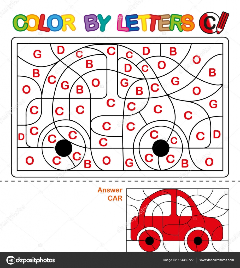 ABC Coloring Book for children. Color by letters. Learning the ...