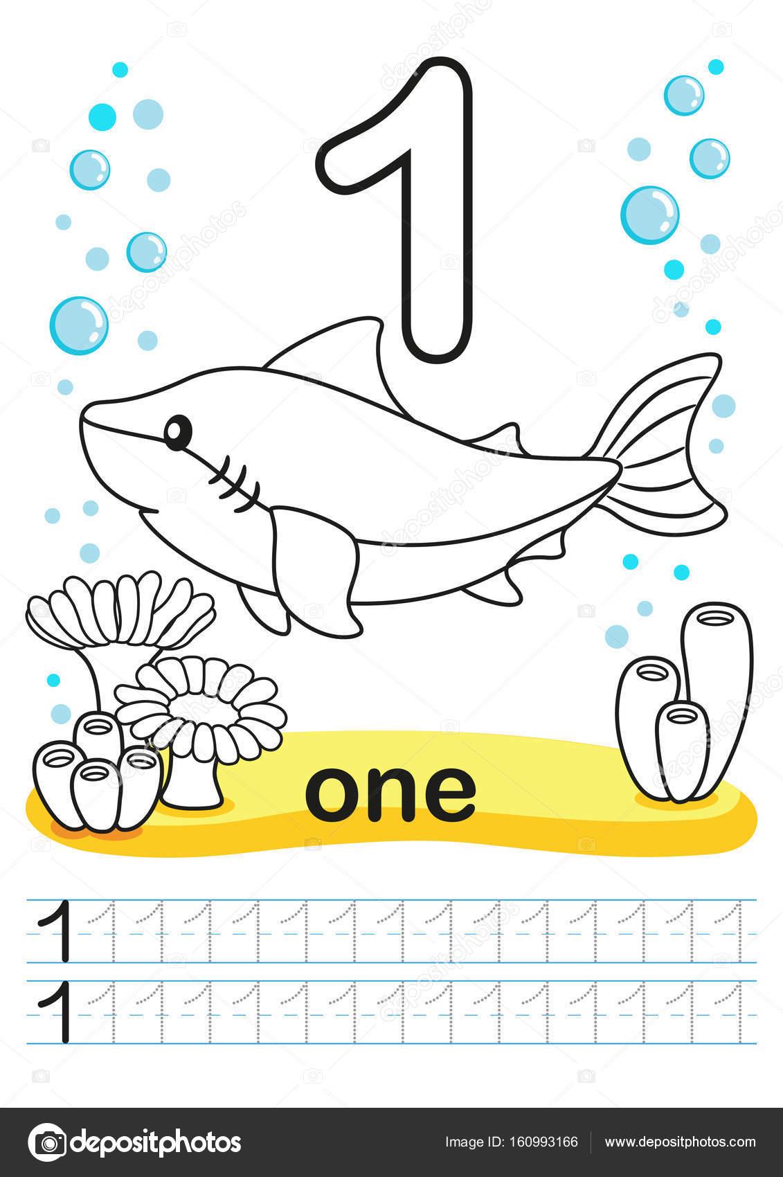 Hoja imprimible para colorear para jardín de infantes y preescolar ...