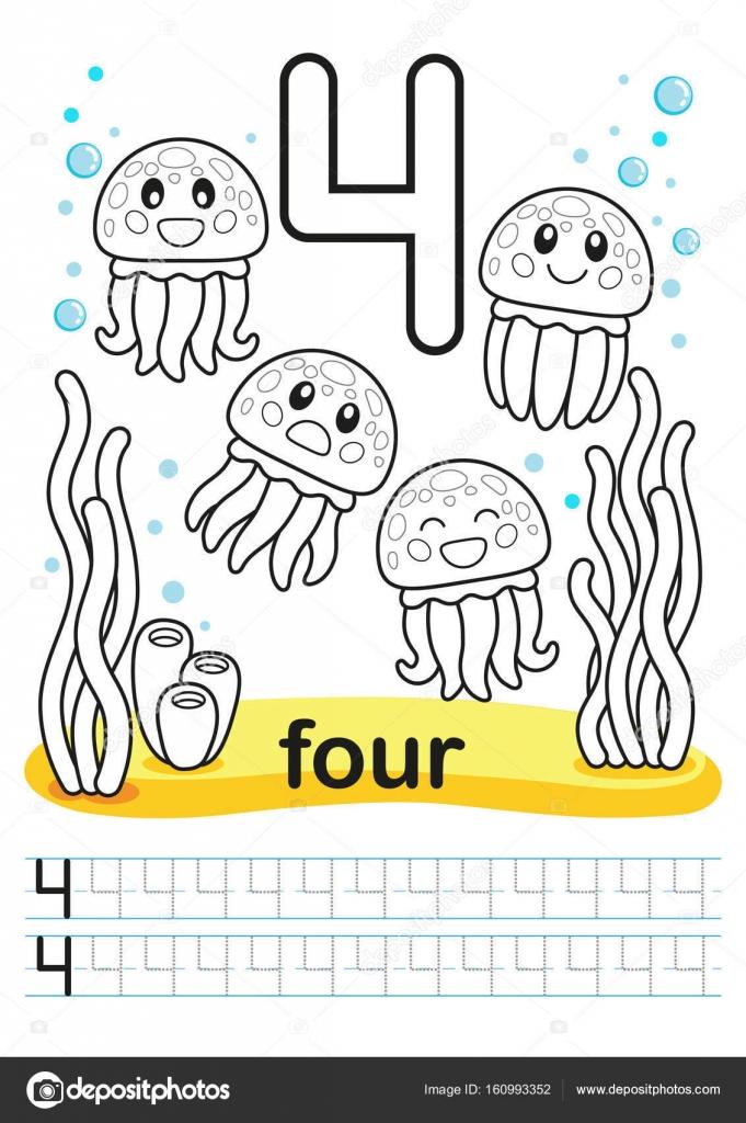 Coloring printable worksheet for kindergarten and preschool. Bright ...