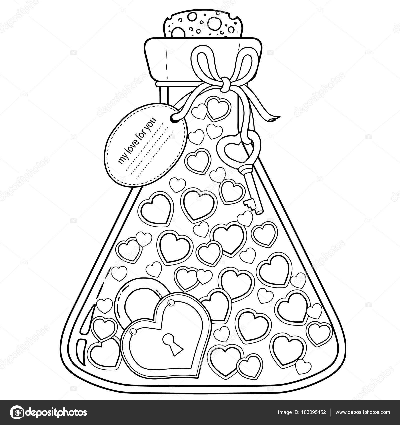 Kleurplaten Voor Valentijnsdag.Vector Kleurplaten Voor Volwassenen Aftelkalender Voor Valentijnsdag