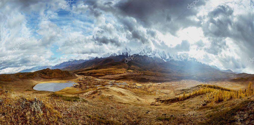Mountains panorama landscape Altai Siberia Russia