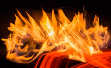 Abstract stylized bright fire background