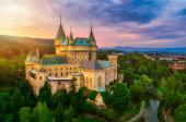 Letecký pohled na Bojnický středověký hrad, dědictví UNESCO na Slovensku