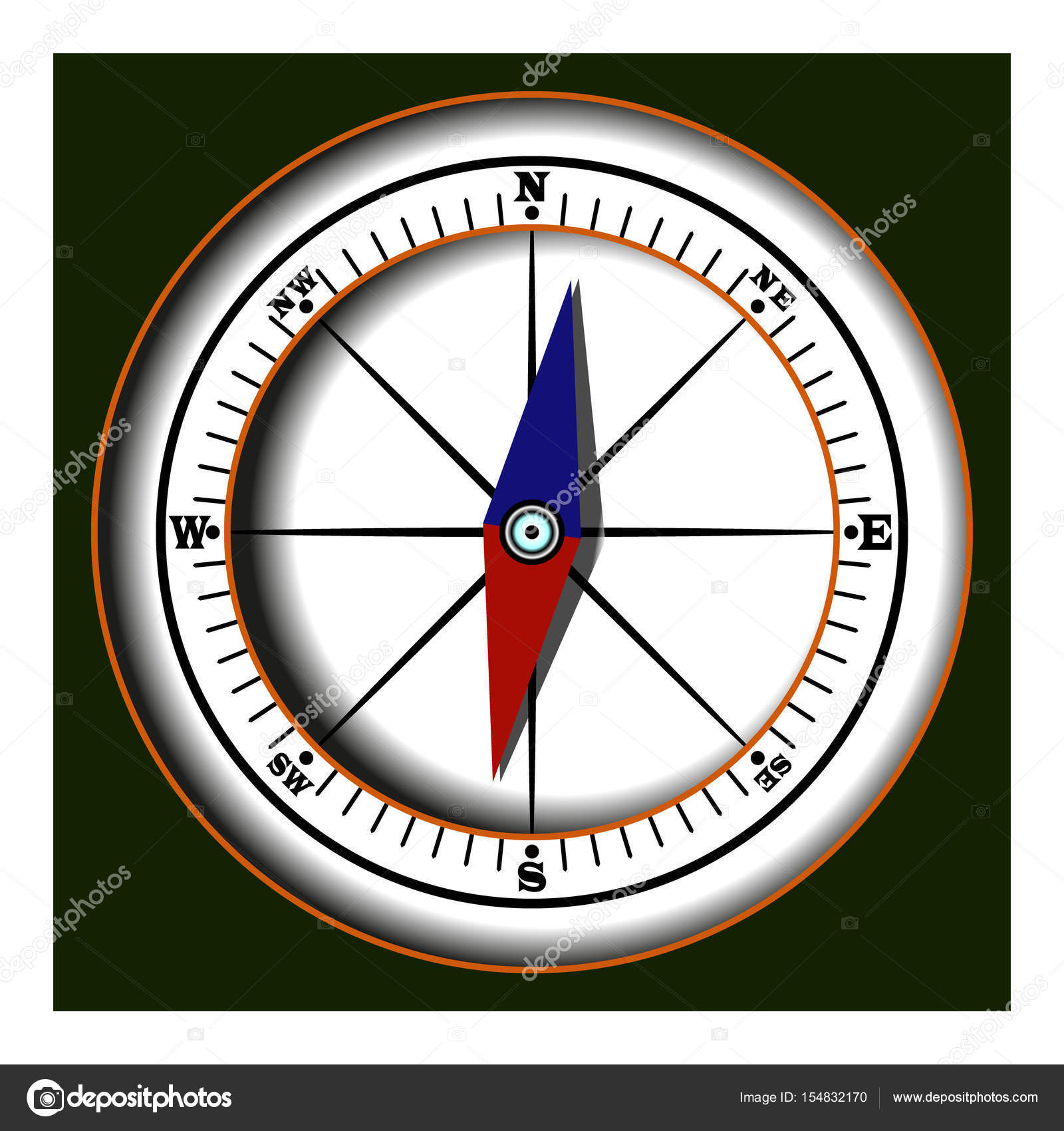 Disegno Di Una Bussola.Color Drawing Of The Compass Stock Vector C Alexberg75 Ukr Net
