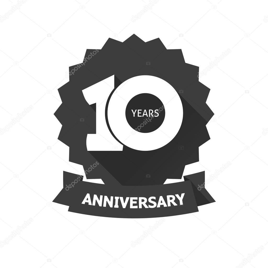 10th anniversary logo stock vectors royalty free 10th anniversary ten years anniversary sticker vector icon 10th year birthday label royalty free stock illustrations biocorpaavc