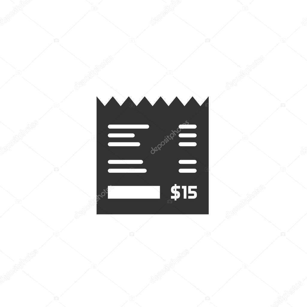 eingang vektor icon rechnung illustration papier. Black Bedroom Furniture Sets. Home Design Ideas
