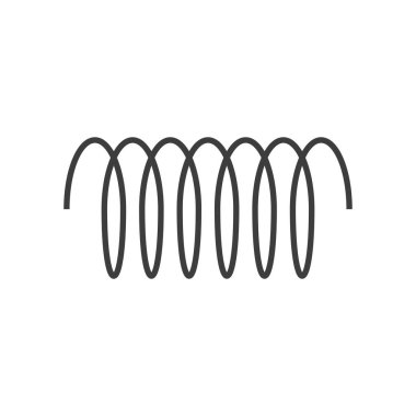 Spiral vector icon, swirl line outline simple style