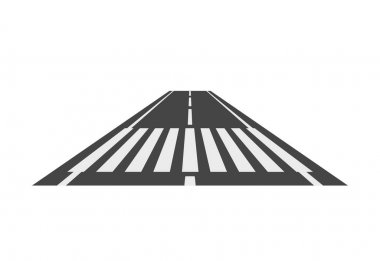 Crosswalk path, pedestrian crossing perspective crossover isolated