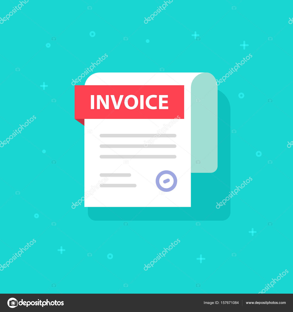 Clipart Bill Bill Vector Icon Flat Cartoon Invoice Paper