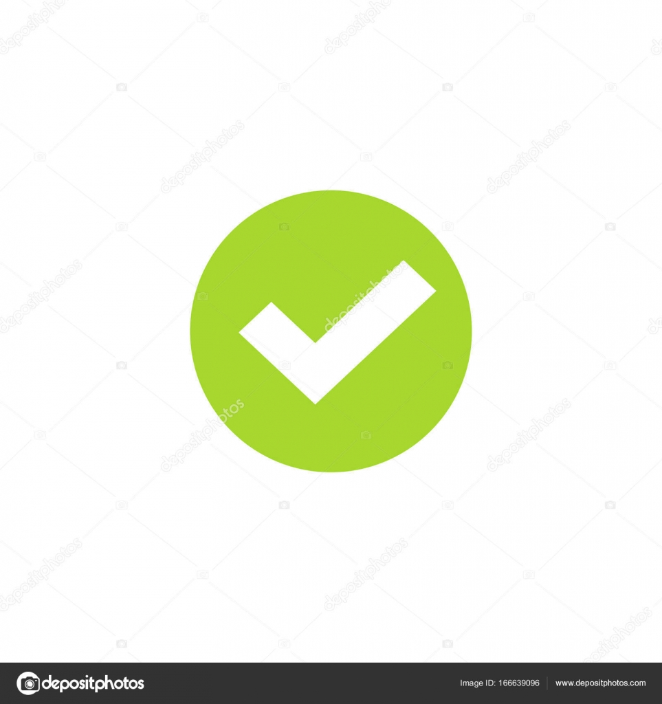 Tick icon in green circle vector symbol green round checkmark tick icon in green circle vector symbol green round checkmark isolated on white background checked icon or correct choice sign check mark or checkbox biocorpaavc Gallery