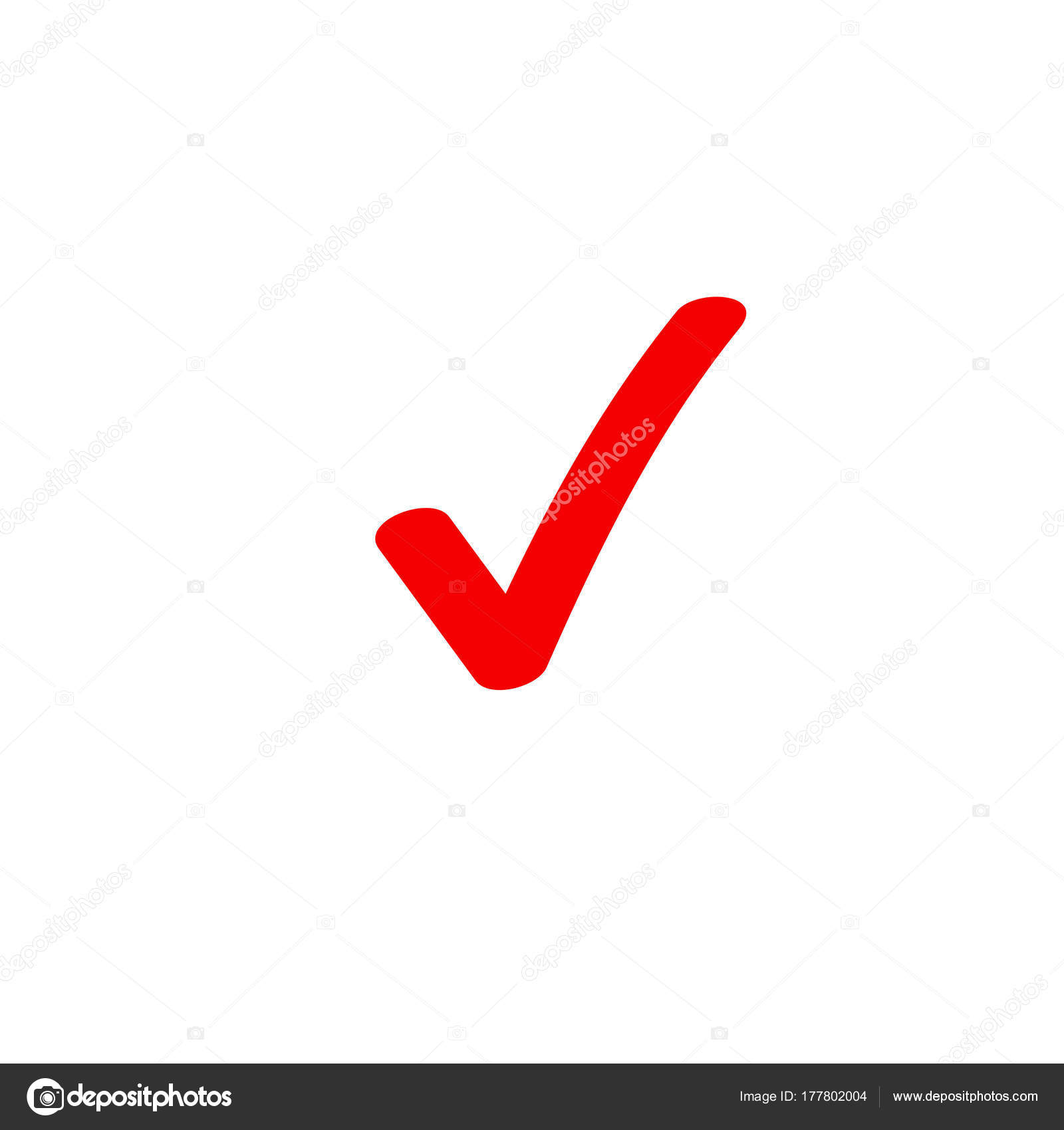 Tick icon vector symbol marker red checkmark isolated on white tick icon vector symbol marker red checkmark isolated on white checked icon or correct biocorpaavc Gallery