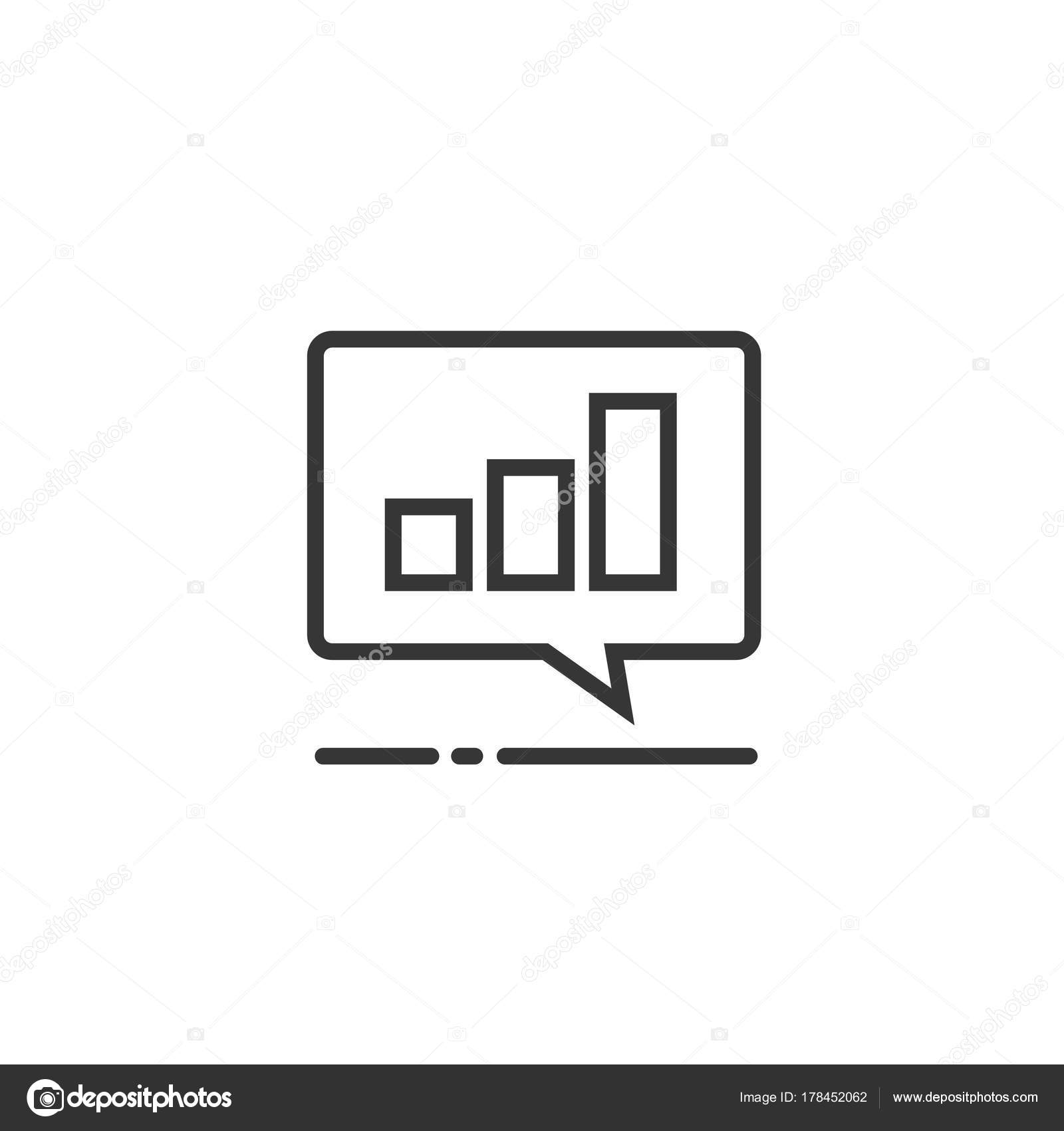 Chart or accounting result data icon vector symbol line art chart or accounting result data icon vector symbol line art outline pictogram of analytics or biocorpaavc