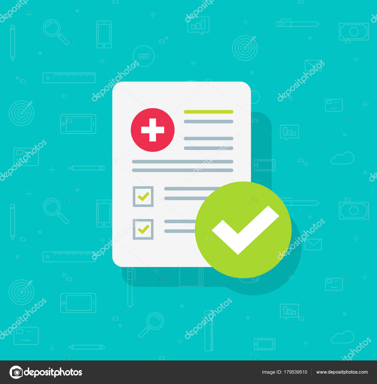 Medical form list with results data and approved check mark vector on medical files, medical insurance, medical papers, medical schedule, medical documentation, medical checklist, medical backgrounds, medical questionnaire, medical flyers, medical privacy policy, medical history, medical treatment, medical records, medical signs, medical logo, medical charts, medical documents, medical paperwork, medical information, medical reports,