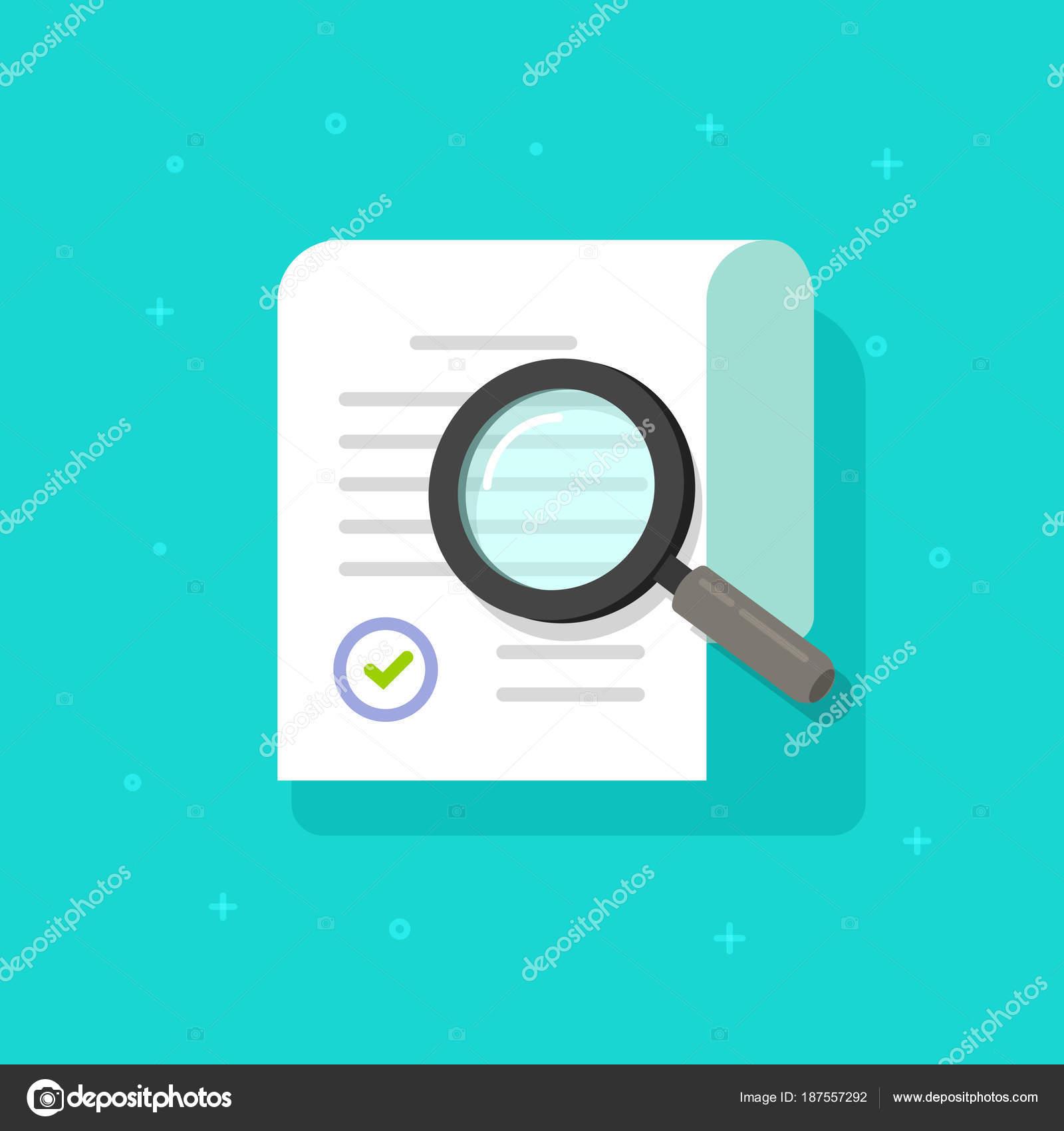 Documento de investigación vector Ilustración, plana doc de hoja de ...
