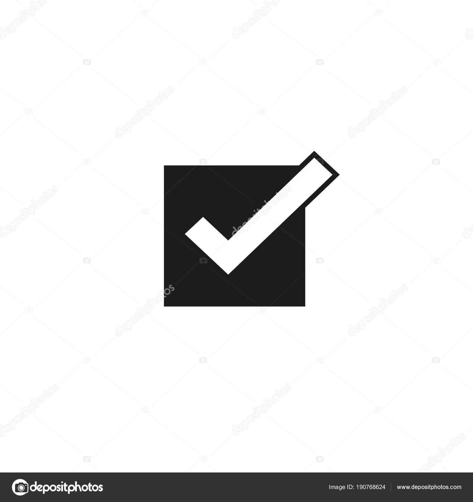 símbolo de carrapato ícone vector checkmark isolado verifiquei o