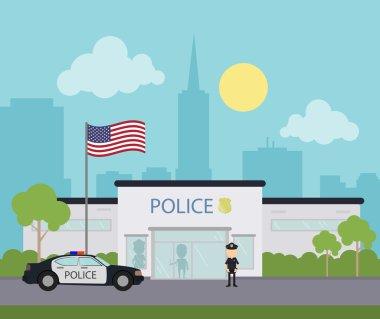 City police station.