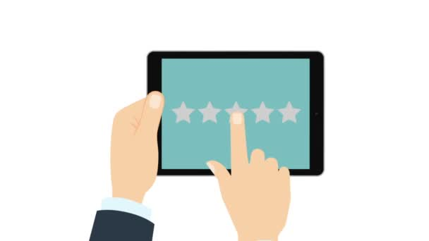 Giving rating stars. Ranking business with fave golden stars.