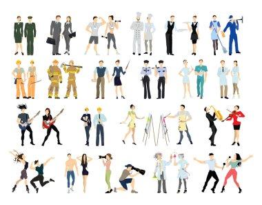 Different professions set.
