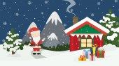Santa zu Hause