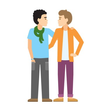 Isolated gay couple.