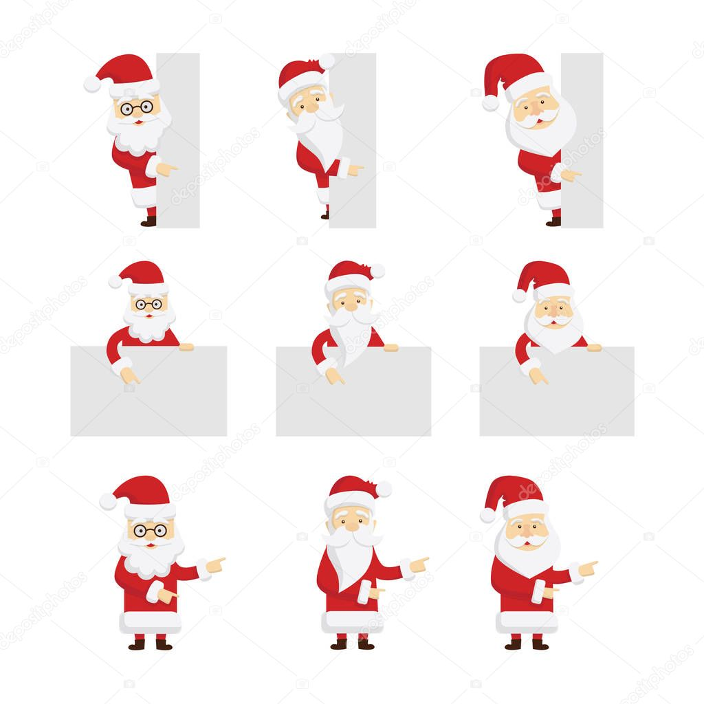 Santa Claus template set. — Stock Vector © inspiring.vector.gmail ...