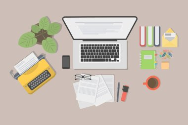 Writer desk mockup