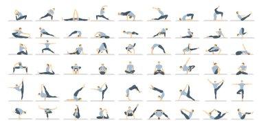 Yoga poses set.