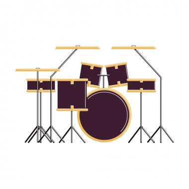 Isolated drums set.