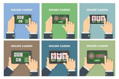 Online casino set.