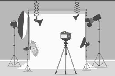 Simple photo studio.